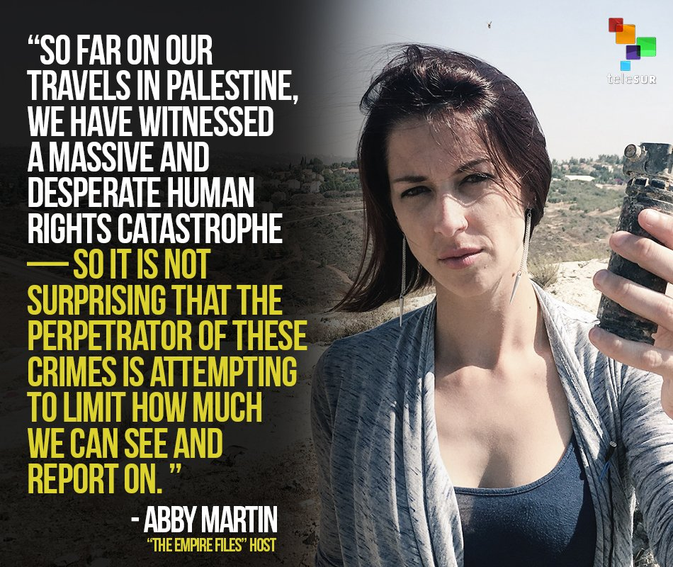 Image result for abbyy martin barred from israel