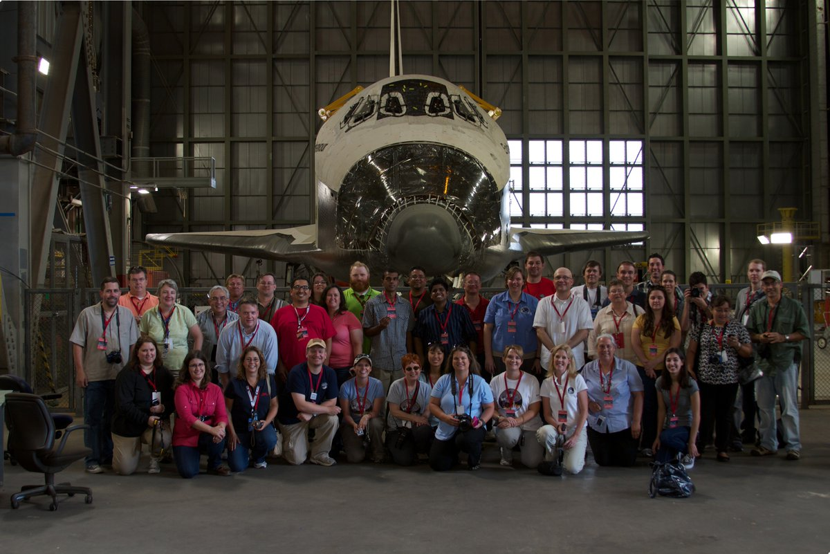 5 years ago today: @IamPter got this great shot of us with #Endeavour inside the #VAB during the #GRAIL #NASASocial. https://t.co/SvQcwYHGCH