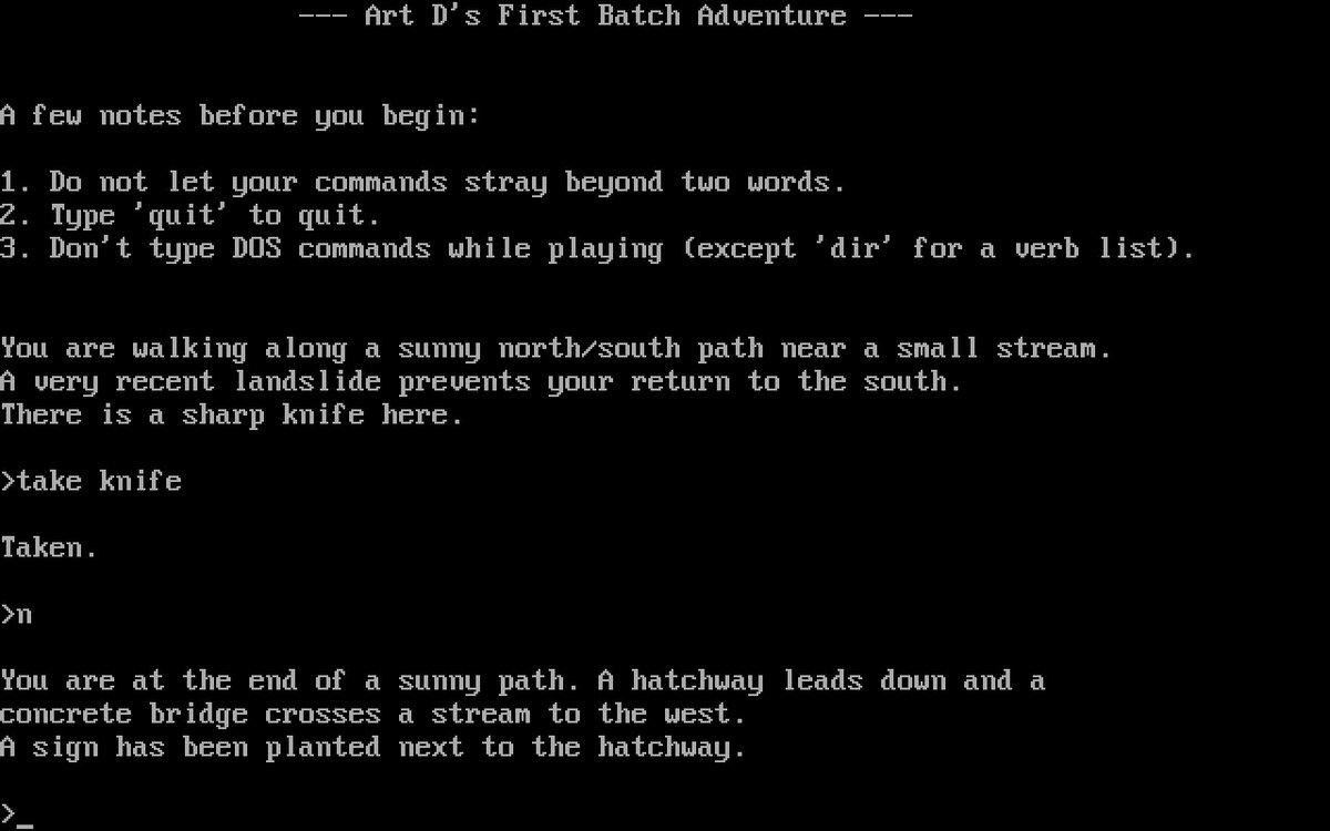 batch file game