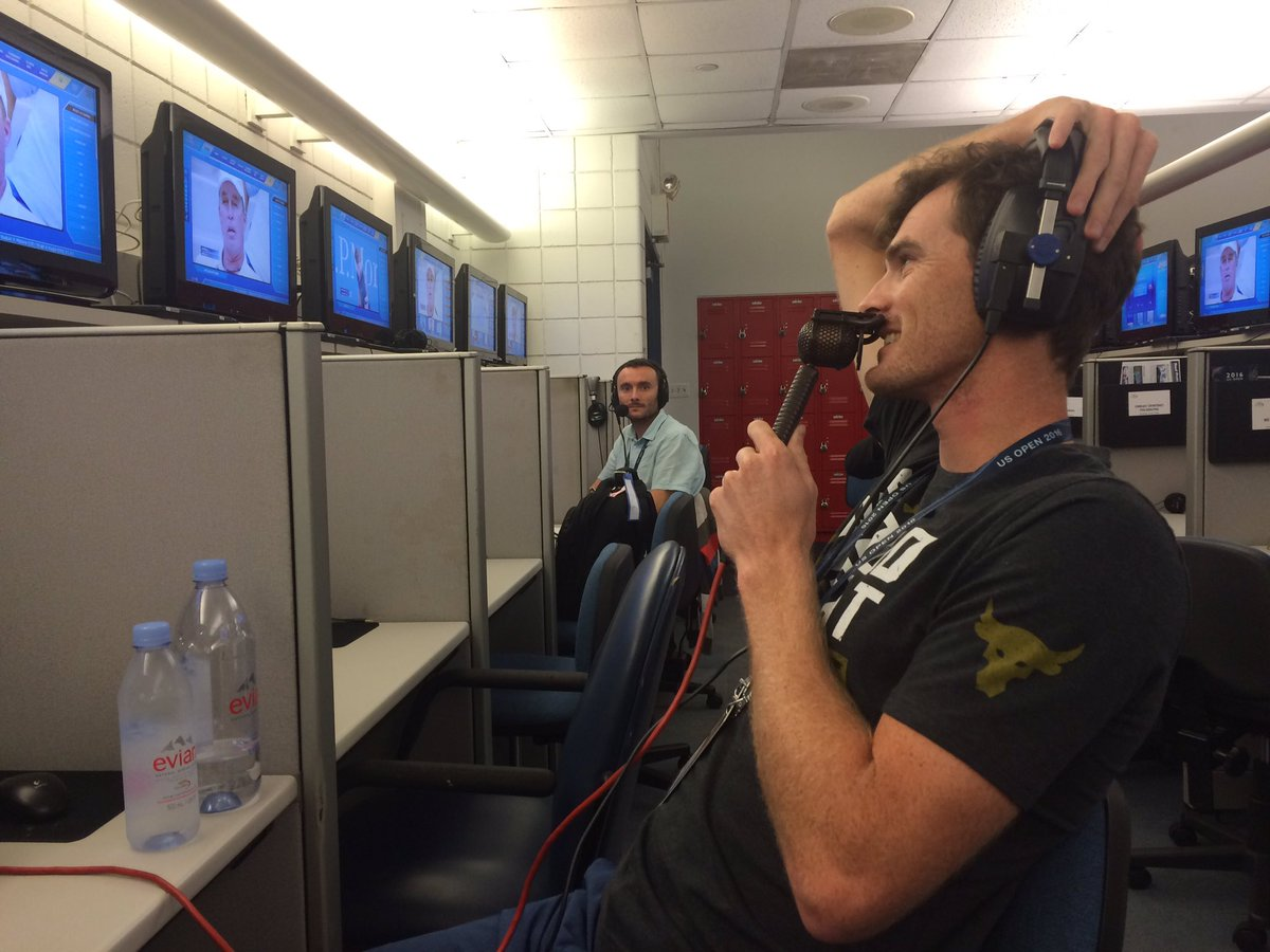 """""""It is stressful"""" @jamie_murray on watching brother Andy  @5liveSport @bbctennis  Jamie in doubles SF thurs #USOpen https://t.co/nRIPikdK0F"""
