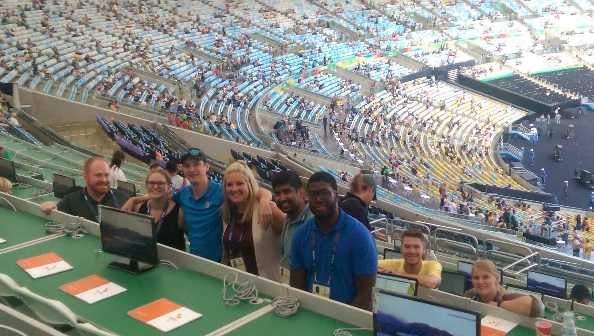 .@CentennialEDU sports journalism students pumped  for .@Paralympics opening ceremony in #Rio2016 . #parabrazil16 https://t.co/OahFx2mlh4
