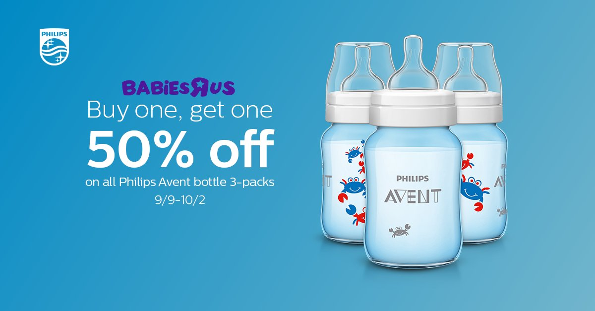 Love Philips Avent bottles? Save now on all 3-packs at @BabiesRUs! philips.to/2c2bdMw