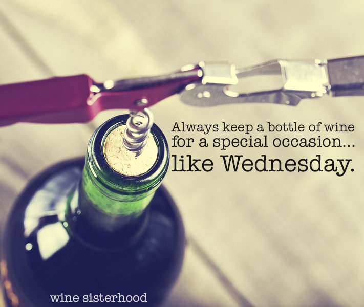 True wisdom is knowing when to quit and pour a glass of wine. #wednesdaywisdom #winewednesday https://t.co/uRwrIMTxSd