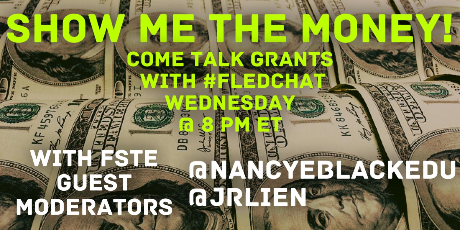Are you ready to talk funding? Join us tonight as FSTE Guest Moderates #FLedChat with @nancyeblackedu & @jrlien https://t.co/PgVV6vX4eA