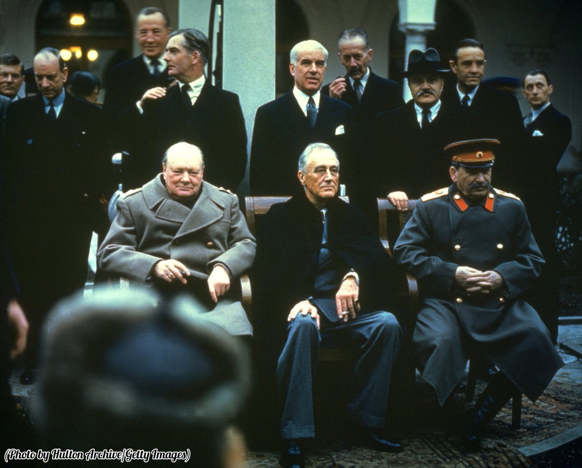 'The Big Three,' Winston Churchill, Franklin Delano Roosevelt and Joseph Stalin at the Yalta Conference, 1945.