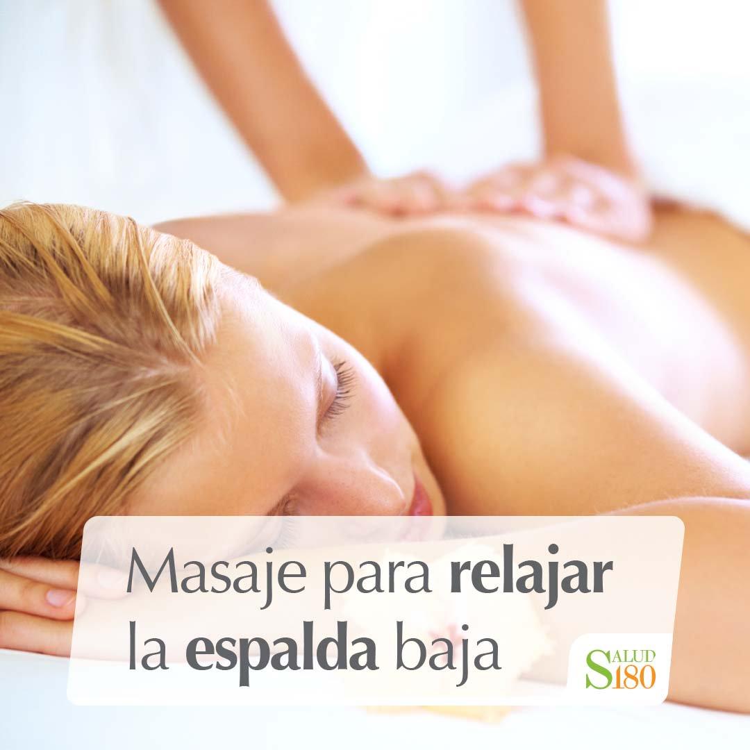 masajes para relajar la espalda baja