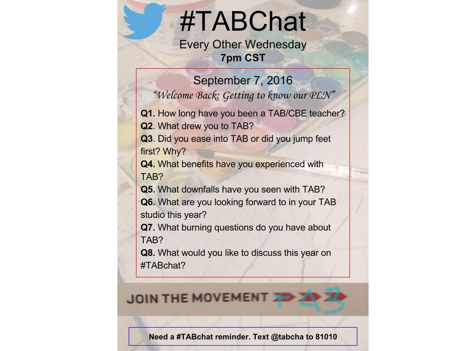 Thumbnail for #TABchat 9/7/2016