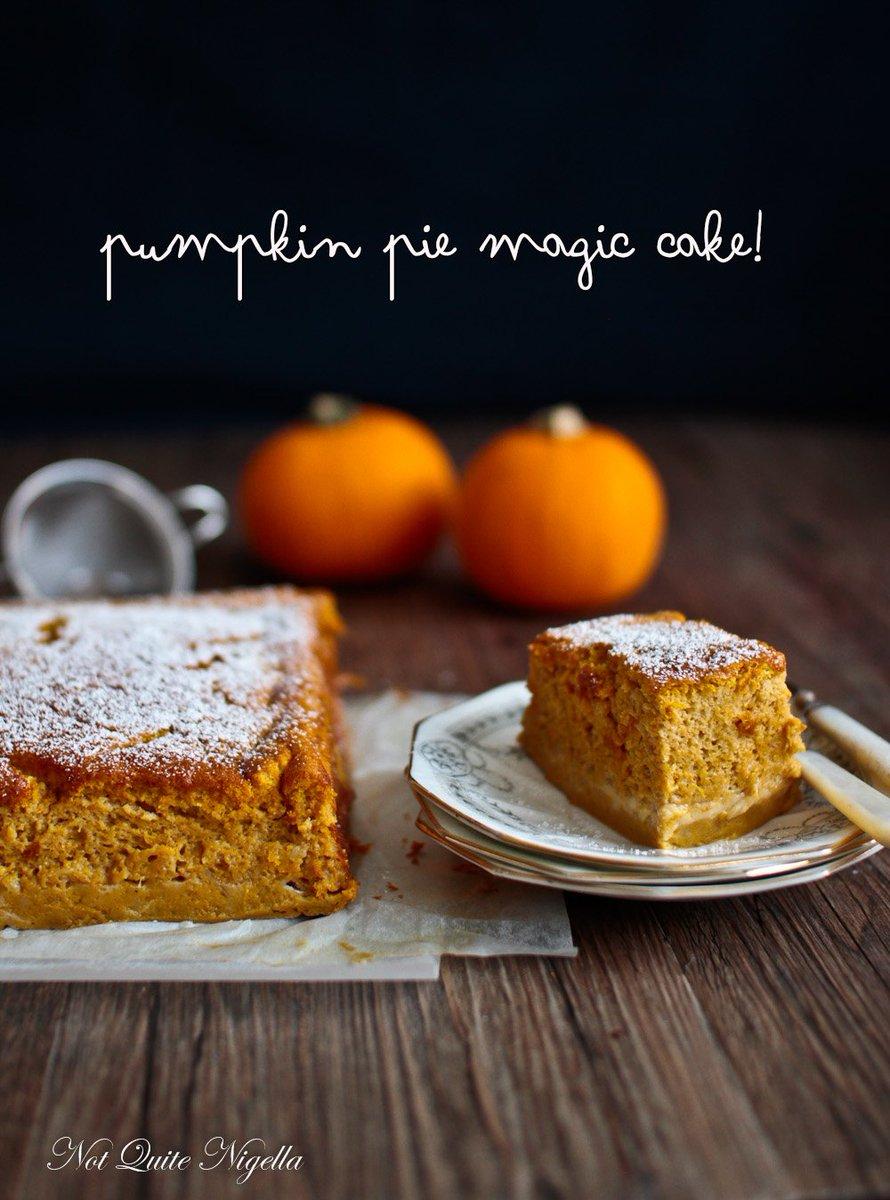 A Pumpkin Pie Magic Cake - https://t.co/yTYqVrbbjT #notquitenigella https://t.co/ibJSzUkODj