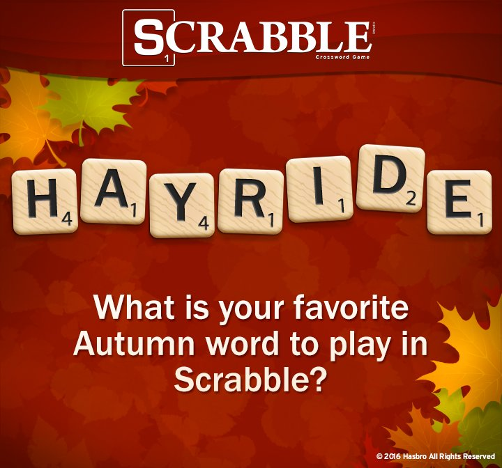 What is your favorite autumn word to play in Scrabble?