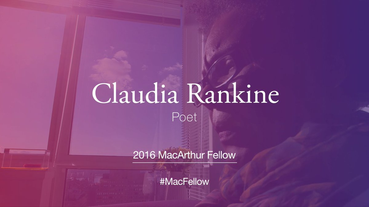 """""""Poetry is going everywhere. Everyone's a secret poet.""""–Claudia Rankine. #MacFellow https://t.co/YjIoNXgBN9"""