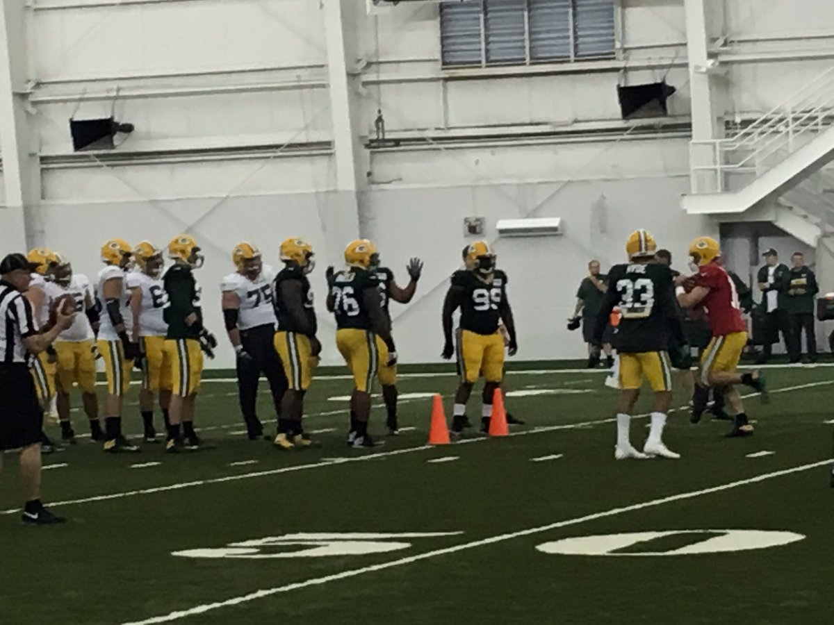 Aaron Rodgers is a man of his word. Ran through gauntlet during ball security period #Packers https://t.co/ChcxYBL0AX