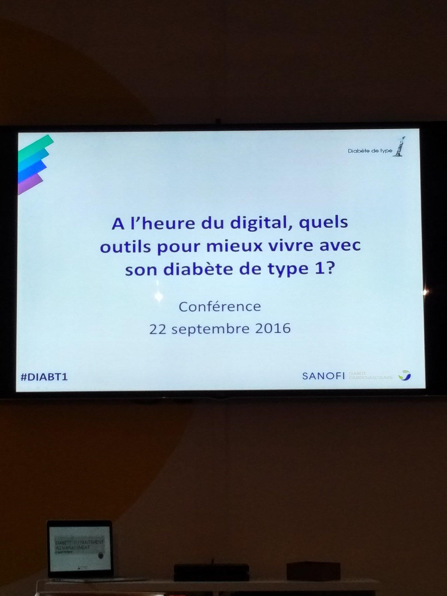 A l'heure du digital quelques outils pour vivre avec le #diabete de type 1 #DIABT1 conférence par @SanofiFR https://t.co/ZWRmLU4j8j