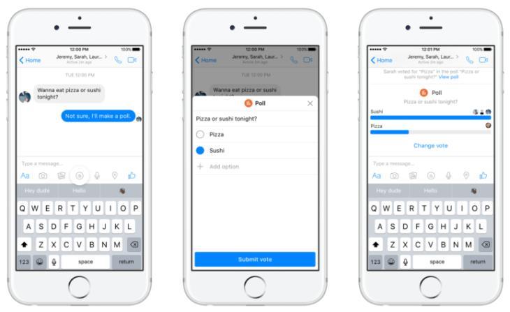 Facebook Messenger añade función de encuestas y fomentará los pagos entre usuarios:… https://t.co/T5RxYyAIIe https://t.co/mNV6SP1QOk
