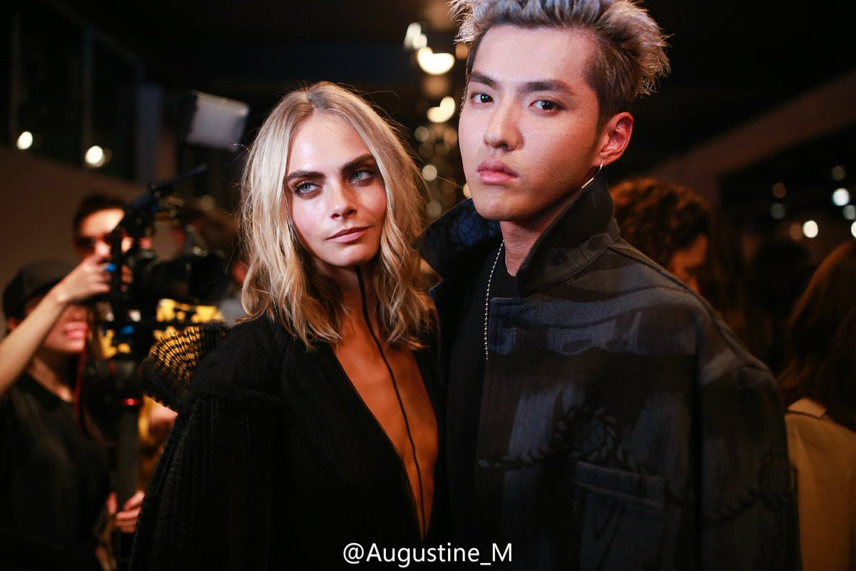 kris wu with western celebs like kendall jenner, cara delevingne