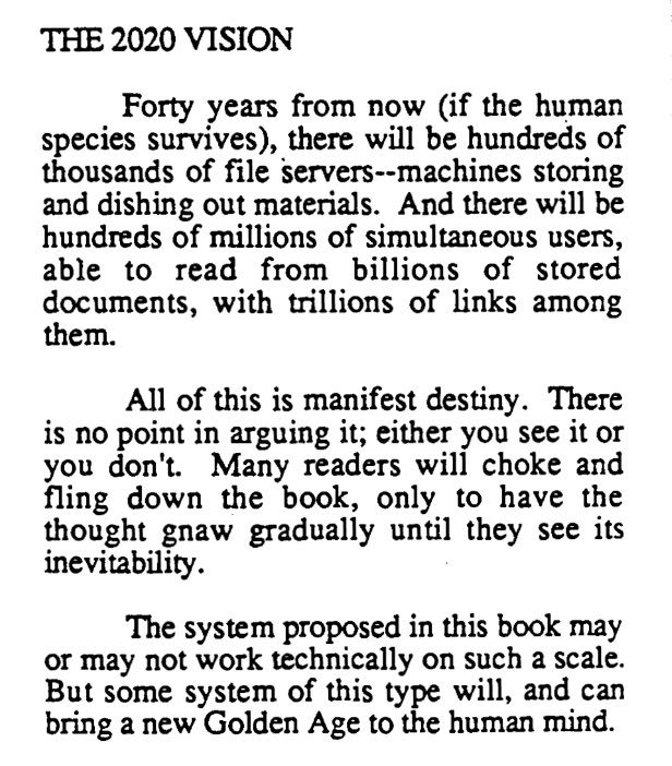 Ted Nelson writing in 1980. Not wrong. https://t.co/8NzvtBTSqh