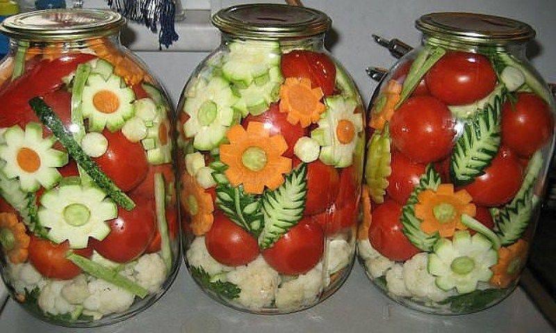 Консервирование овощей рецепты фото