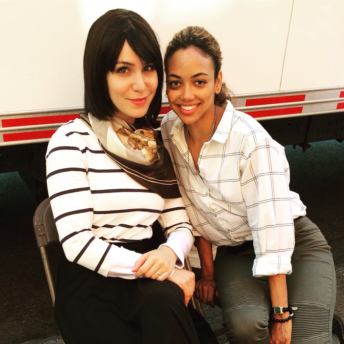 """Amber Goldfarb amber goldfarb on twitter: """"day 1 on set with this beauty"""