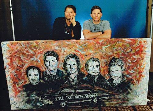 Supernatural Actors Jensen, Jared, Misha & Mark In Chicago#YANA https://t.co/RzkfpKrMLK https://t.co/XMxmLUGI3L