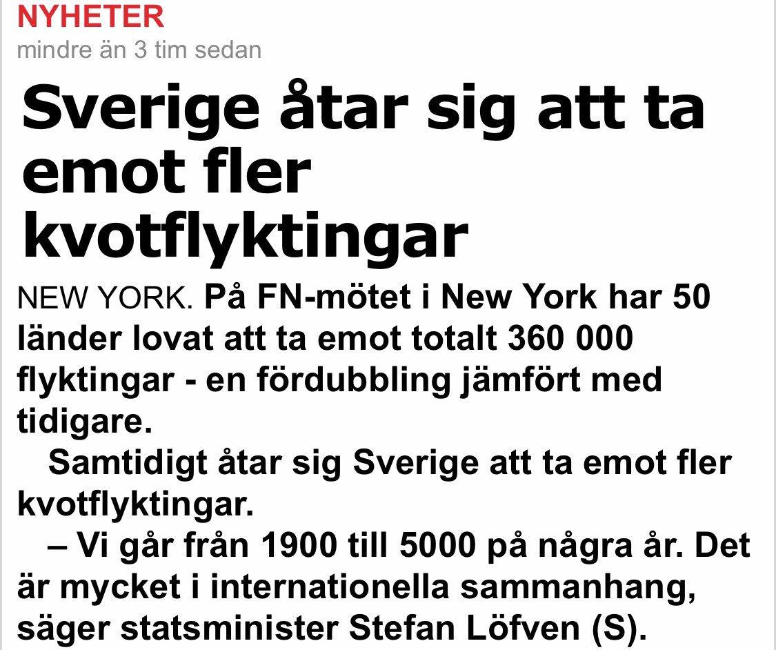 """Sverige som """"satsat"""" mer än halva budgeten på migrationen ska ta emot fler flyktingar-ja ska det gå åt helvete så ska det😰💸💸💸🙈"""
