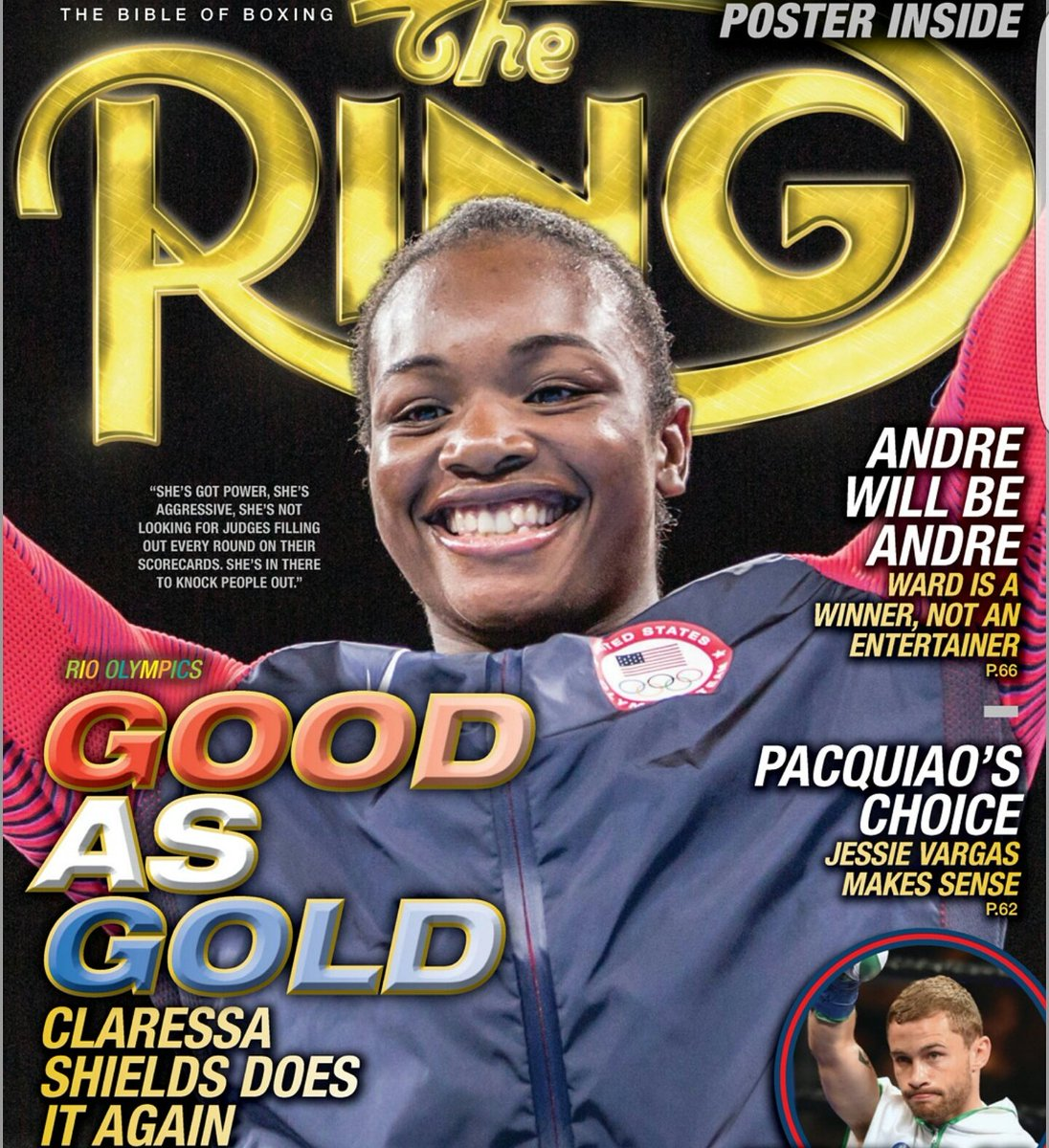 Now that's a pretty cool cover - @claressashields on the December issue of @ringmagazine #boxing #womensboxing https://t.co/lcLQ6ZvZai