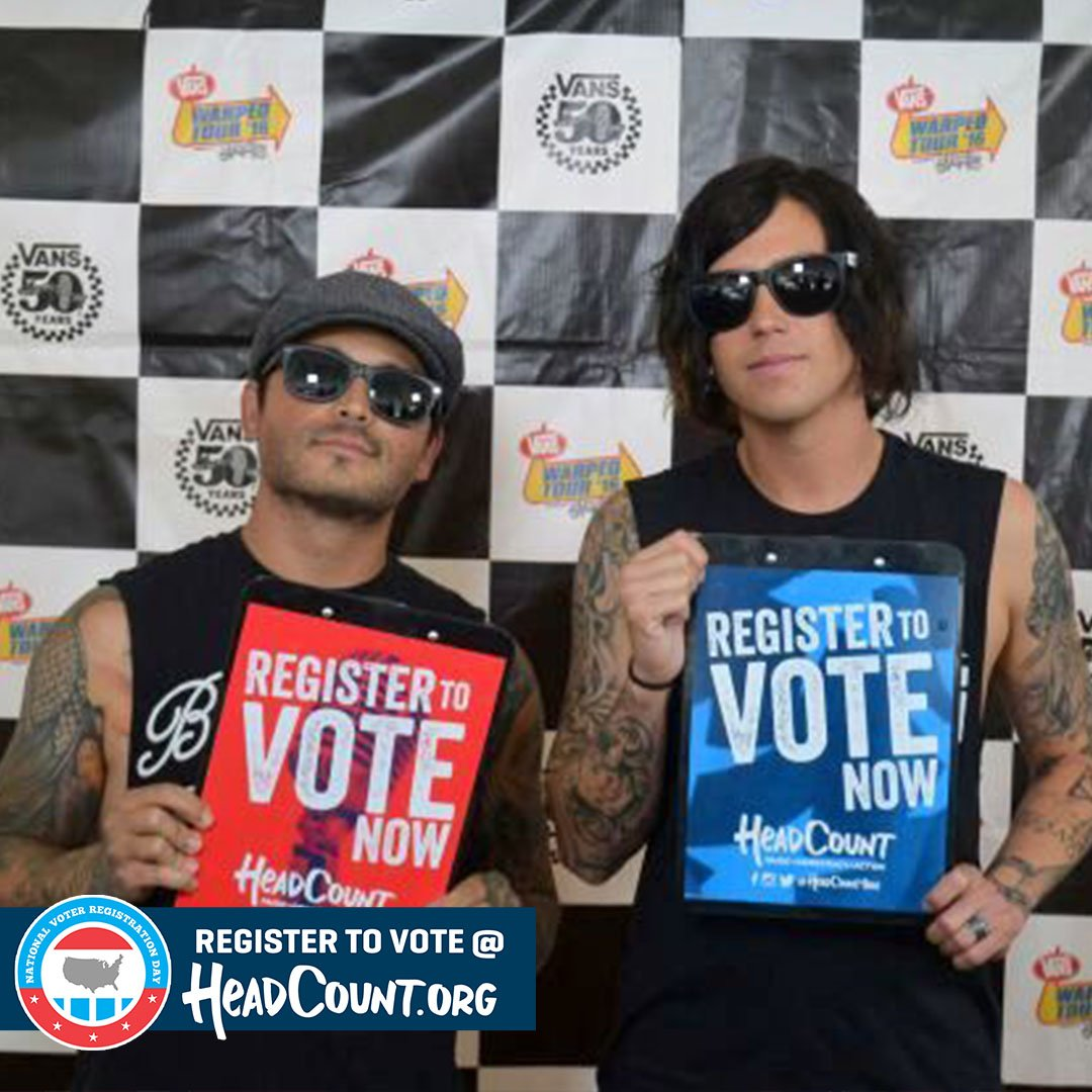 Even If You Can't Hang, you can still vote! Make @SWStheband proud and register to vote now: https://t.co/8W0SpFttBa https://t.co/hFHcFYN5zU