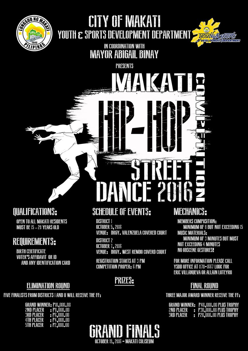 MakatiTraffic On Twitter Makati Competition Hip Hop Street Dance 2016