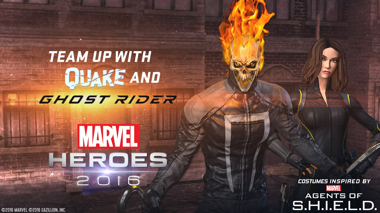 Team-up with Ghostrider and Quake