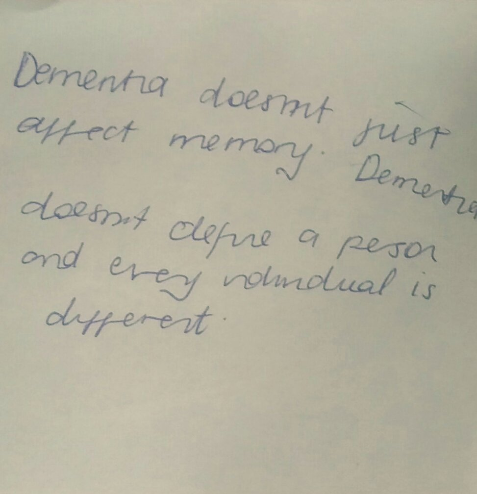"Today's #dementiado post-it   ""Dementia doesn't define the person ""  #FabChangeDay https://t.co/kDbx0xC1fb"