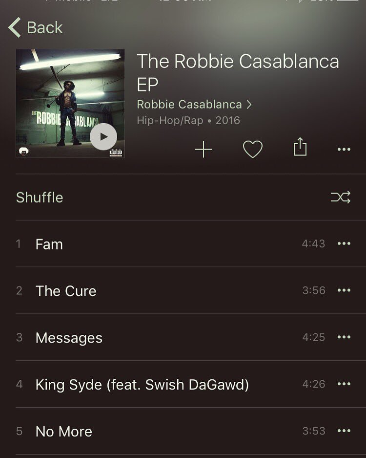 #TheRobbieCasablancaEP is now available on iTunes and Apple Music!! Hope you enjoy