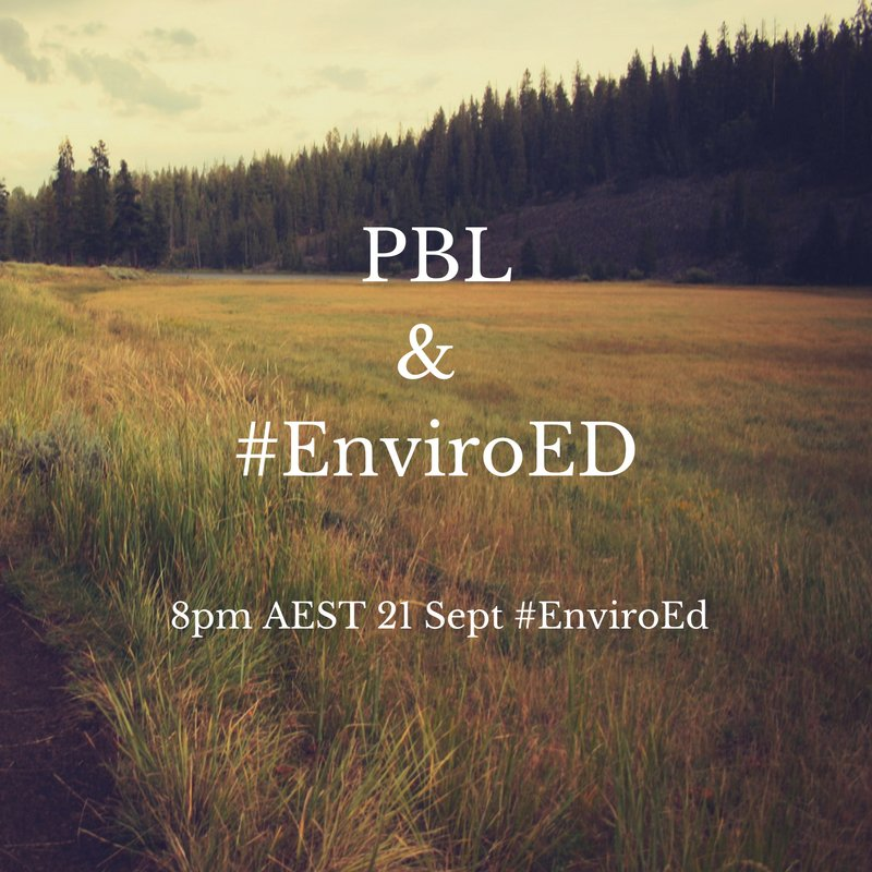 """Thumbnail for Twitter Chat on #EnviroEd """"EnviroEd & PBL"""" 09/21/16"""