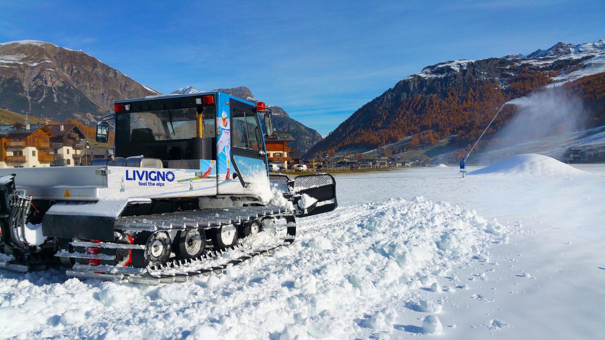 snow farming in Livigno