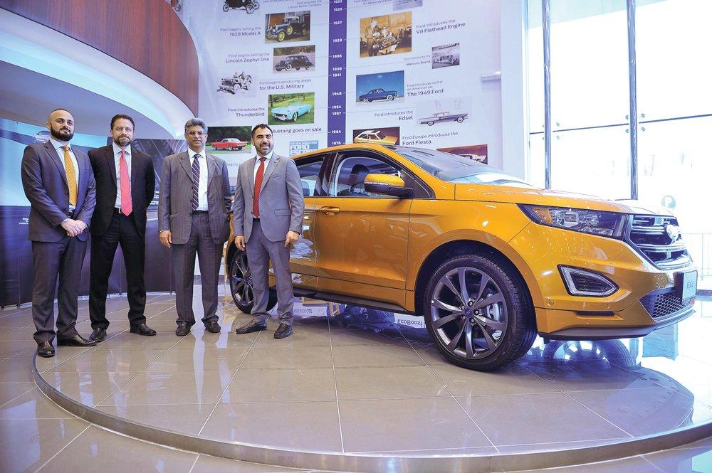 Unveils All New Ford Edge In Qatar Www Thepeninsulaqatar Com Business Qatar Business  Al Mana Motors Unveils All New Ford Edge In Qatar