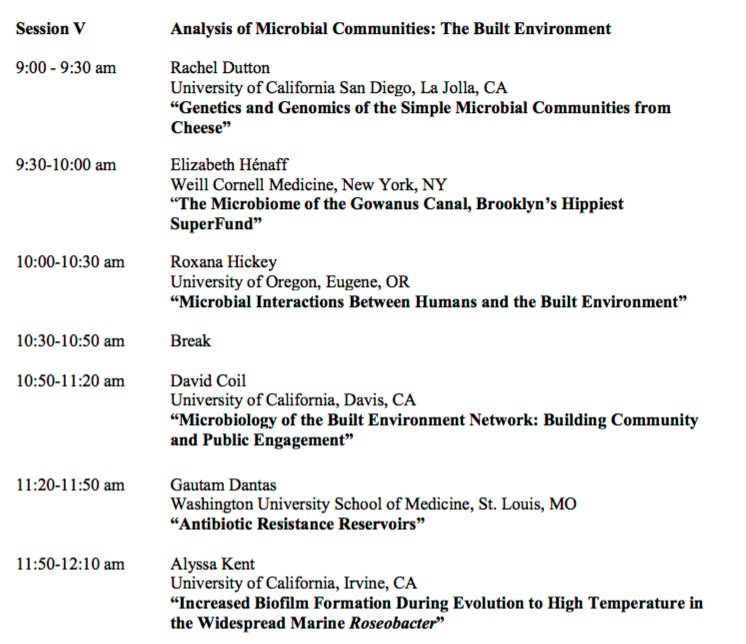 "This AM at #LAMG16 - session on ""Microbiology of the Built Environment"" #microBEnet https://t.co/a7lOjQXZel"
