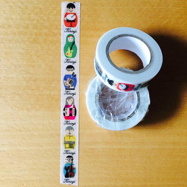 KIRINJI TOUR 2016 NEW GOODIES (2) *KIRINJI  マスキングテープ(MT製) マトリョシカ、イラスト各¥500 https://t.co/iGTZGm6l3d