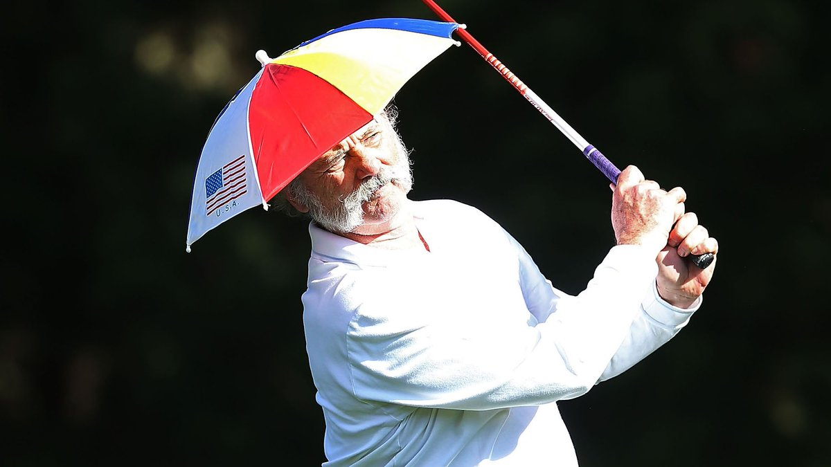 0823084a5ce42 happy birthday bill murray pictured here playing golf in an umbrella hat  and a handlebar moustache
