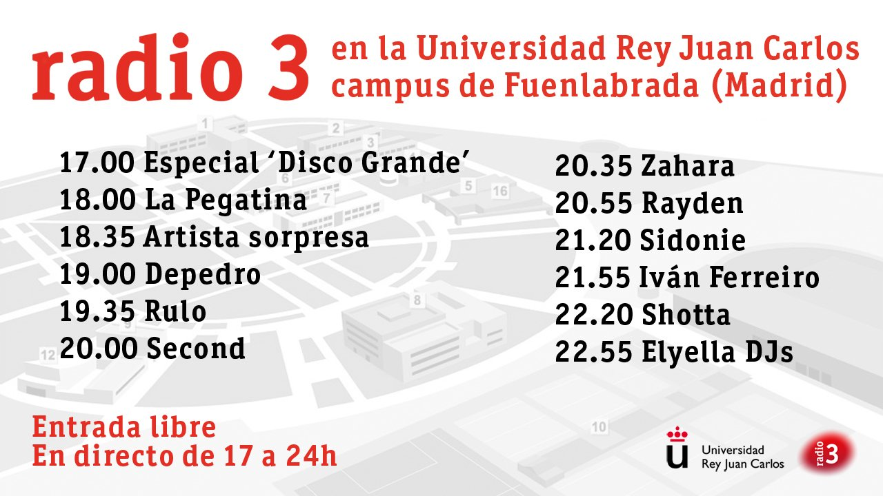 Radio 3 en la Universidad Ray Juan Carlos