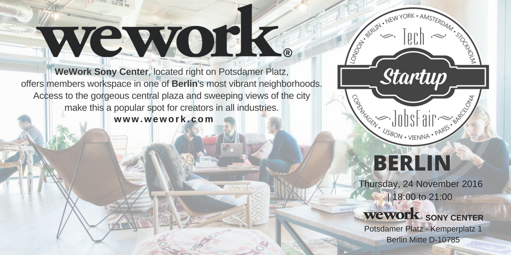Thank You to our #Berlin Venue Partner @WeWork  @WeWorkBER #SonyCenter A perfect office space no matter where you want to base your business https://t.co/yNS3U1MgQZ