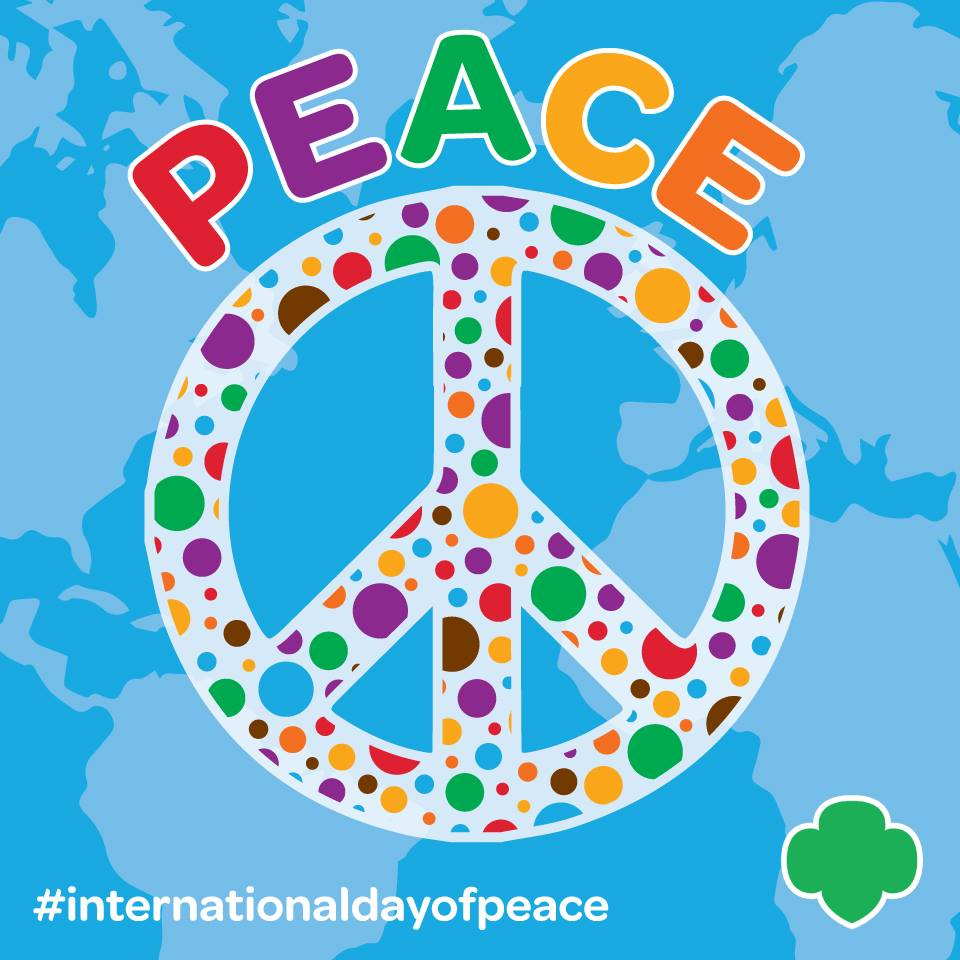Girl Scouts On Twitter Peace Begins With You Happy