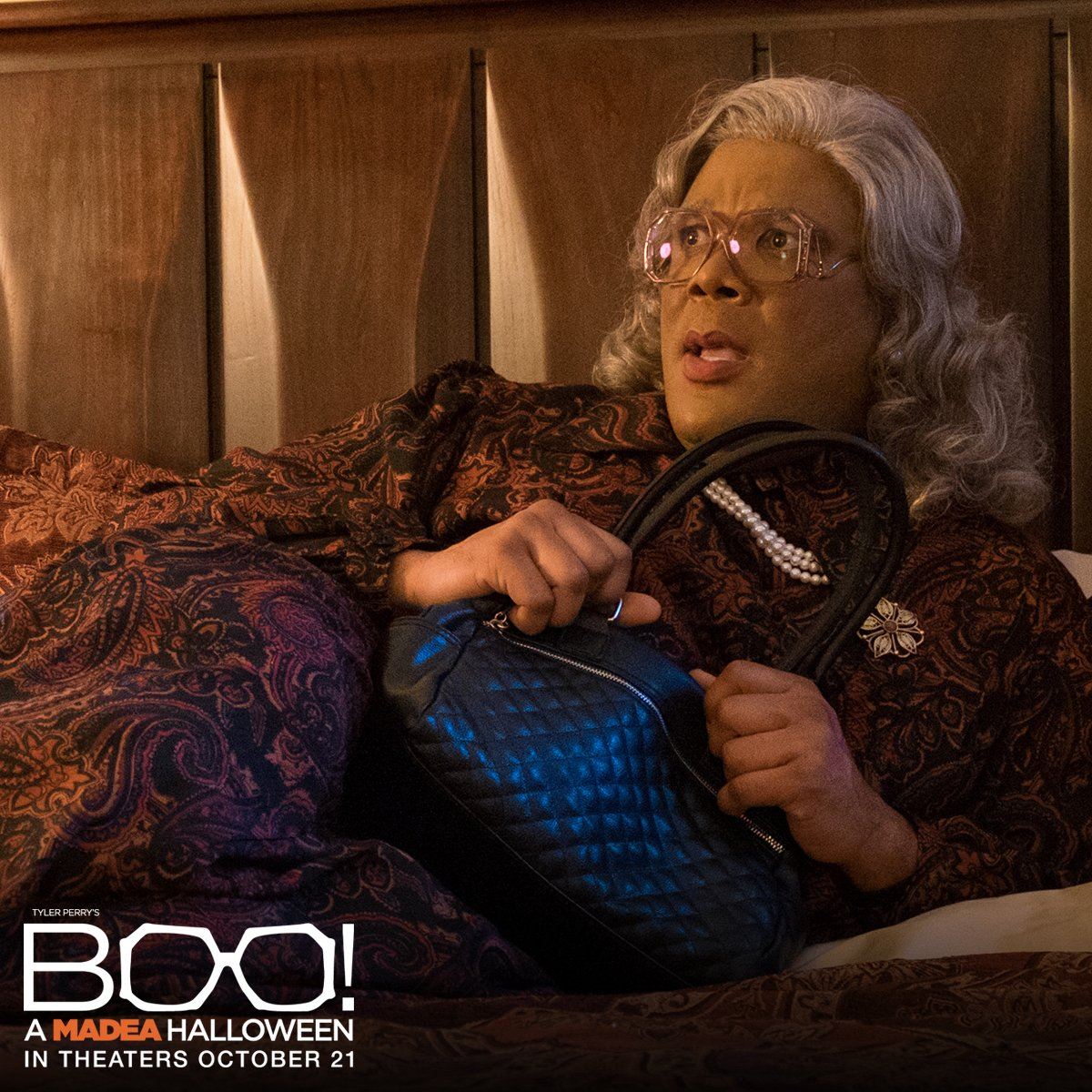 Ghosts & zombies & Madea, oh my! @TylerPerry's Boo! A #MadeaHalloween spooks theaters October 21.