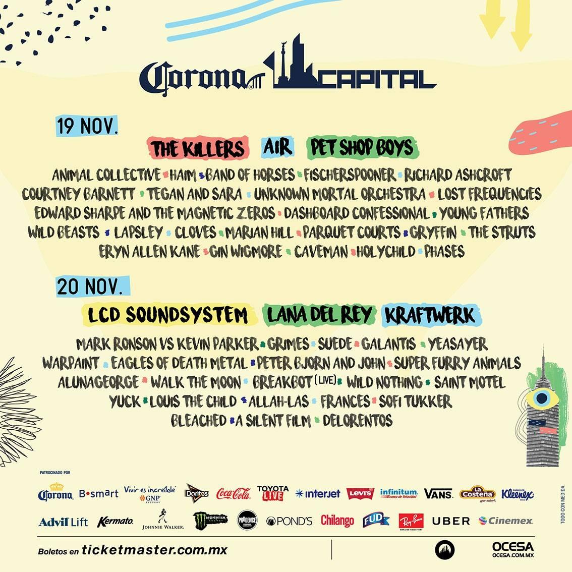 #Música Confirmado, este es el cartel por días del @CoronaCapital https://t.co/UGybrx23EI