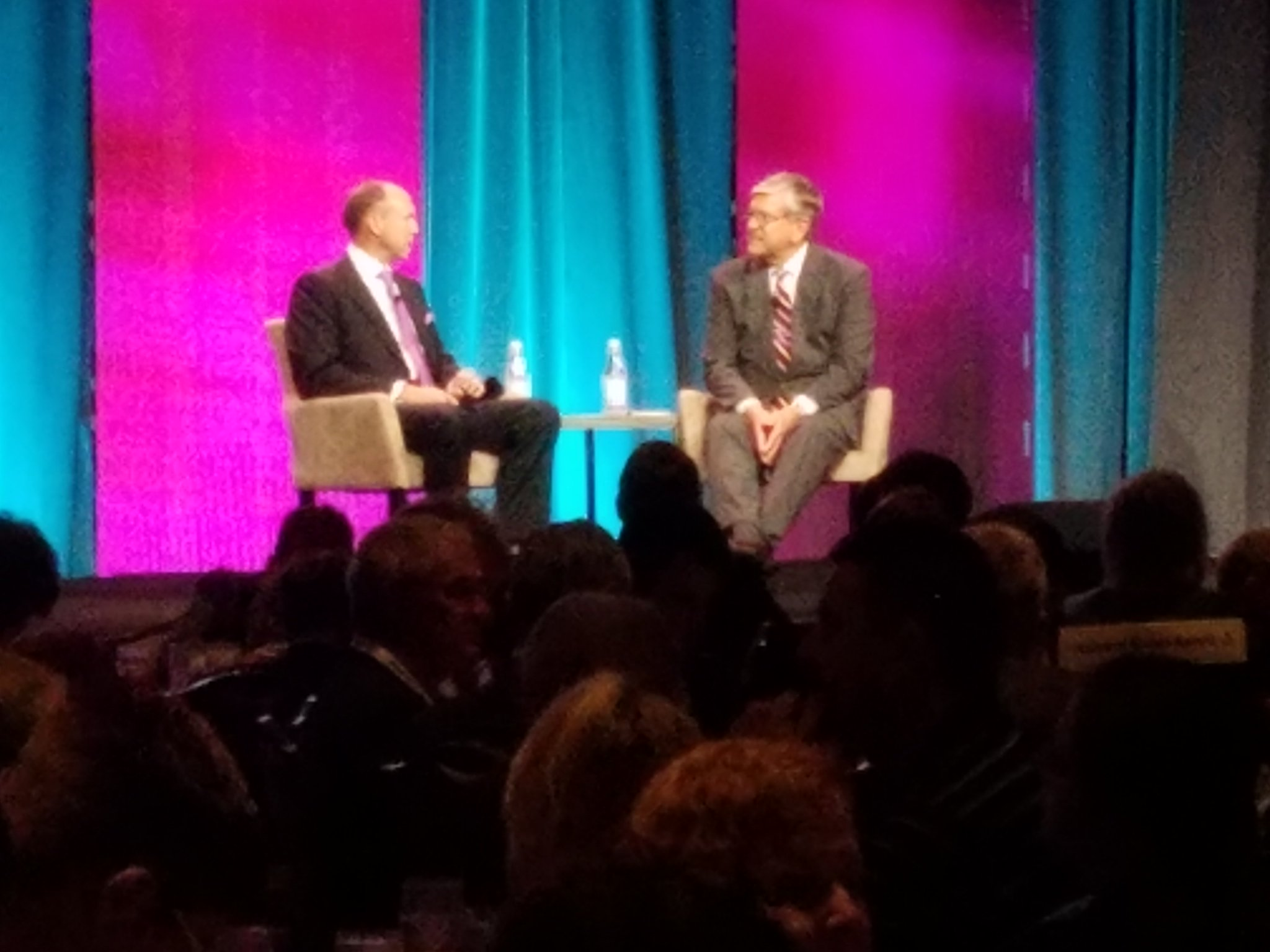 @nabtweets Gordon Smith and DTS CEO John Kirchner talking HD radio at the #Radioshow2016 Radio Luncheon. https://t.co/iHR8BZaZ6F