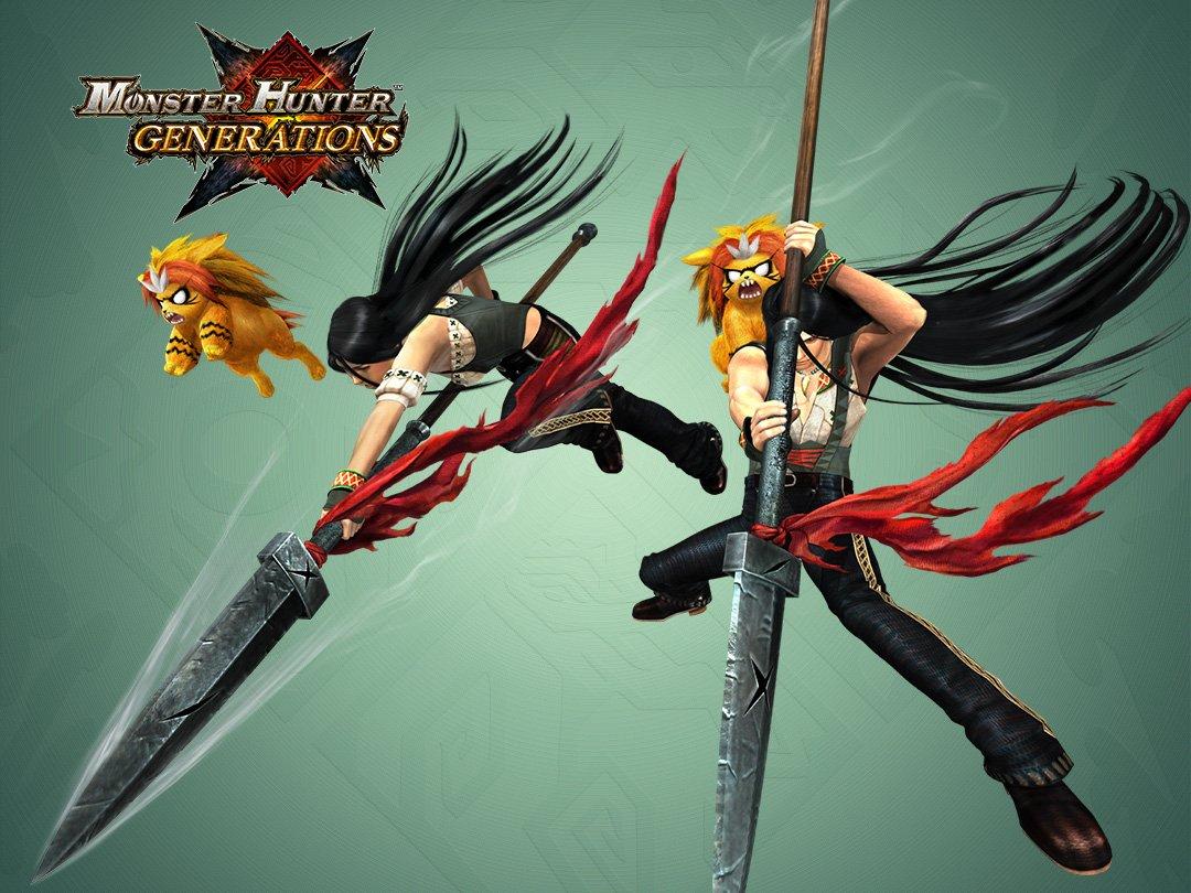 """monster hunter on twitter """"invoke the power of the spear"""