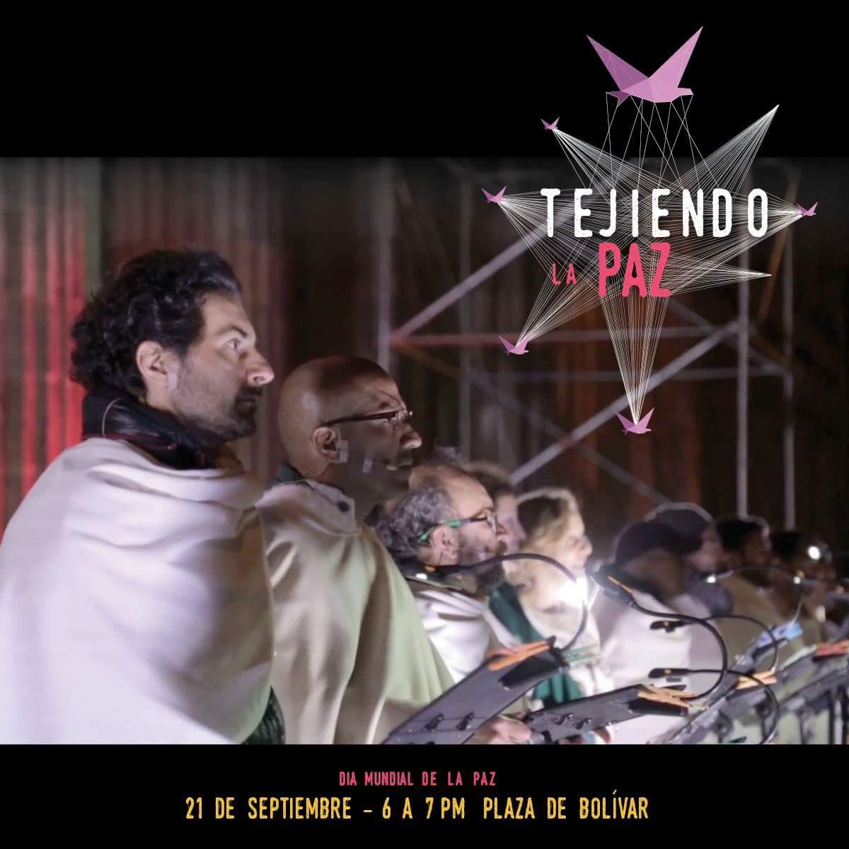 Hoy más de 120 artistas, música, proyecciones y una gran puesta en escena en #TejiendoLaPaz. Invita @mincultura https://t.co/xQzIqD5twc