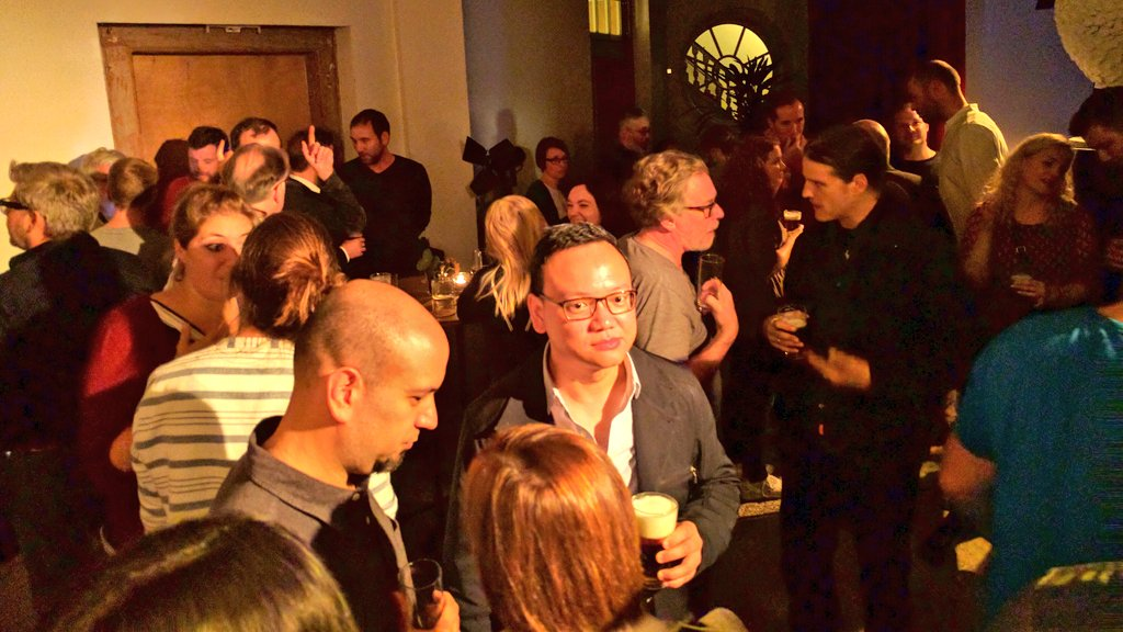 A year ago I didn't even know what an Information Architect was. Now I'm in a bar full of them #euroia16 @euroia https://t.co/d8USz7KvlB