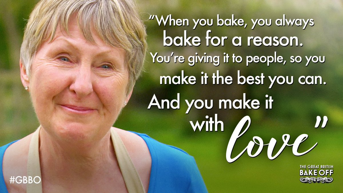 Love is all we knead. Thank you for wonderful words and brilliant baking, Val. #GBBO https://t.co/Wf91eLNE75