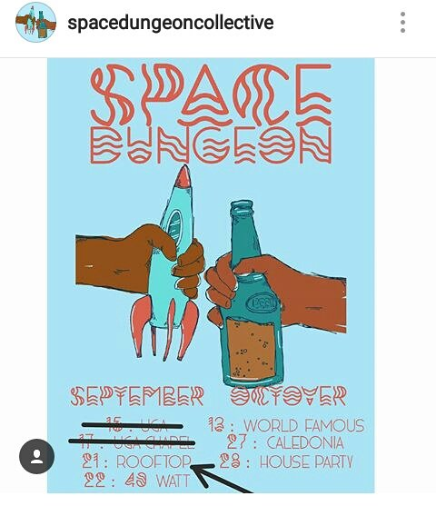 We've got Space Dungeon (Wes & Lex ) on the @georgiatheatre rooftop tonight. 'Panski opens Free! Doors at 11.