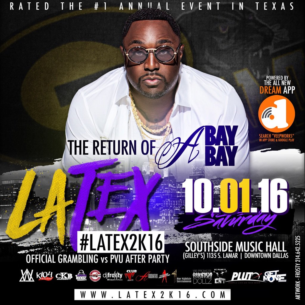 Official after party #LaTex2K16 & The Return of @hollyhoodbaybay u know it's getting ready to be a movie.. @k104fm https://t.co/45KiSQ6i7Z