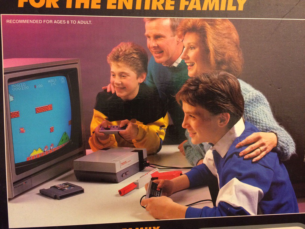 1. the console isn't on 2. Super Mario isn't co-op 3. the game is on the table 4. mom is staring off into regret https://t.co/BqIxoNv9XB