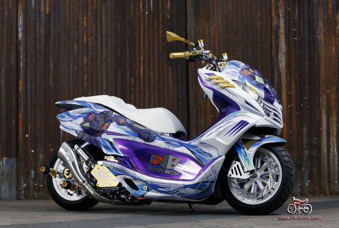 Honda PCX pemenang Matic National Champion, hasil karya modifikasi Peterson Rvai