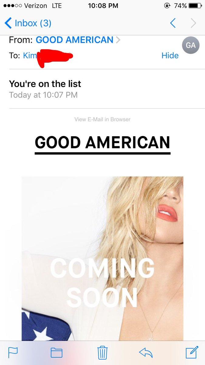 I'm on the list! Congrats khlo! @khloekardashian @goodamerican https://t.co/e9KfMzI9Cs